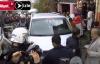 Polisin asayiş uygulaması yaptığı mahalle karıştı