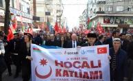Hocalı şehitleri için Bağcılar'da yürüyüş düzenlendi