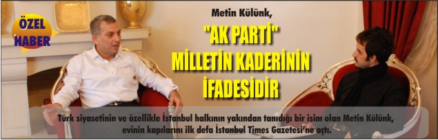 """AK PARTİ"" MİLLETİN KADERİNİN İFADESİDİR"