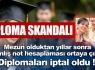 Diploma skandalı !