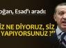 Erdoğan, Esad'ı aradı: ''Siz ne yapıyorsunuz?''