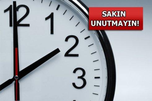 Türkiye bu gece saatleri durduracak!