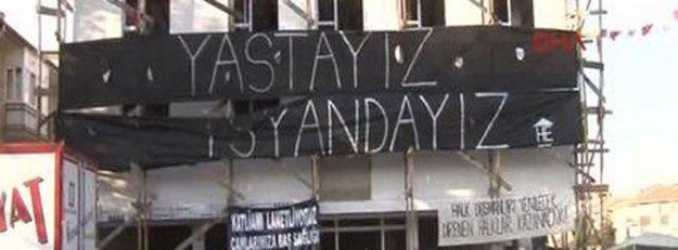Tuzluçayır'da taziye çadırına polis müdahalesi