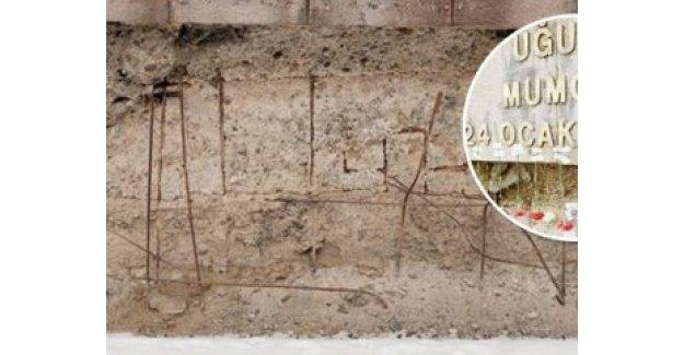 Uğur Mumcu anıtının harf ve rakamlarını çaldılar