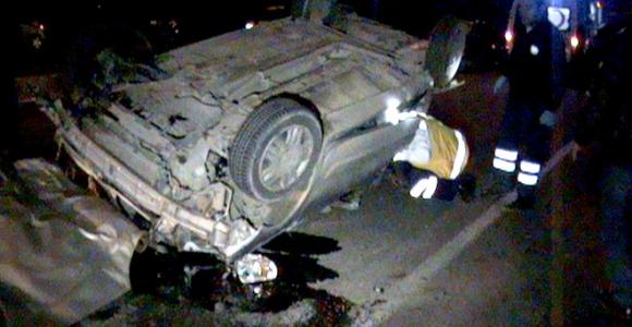 Uşak'ta kaza: 1 ölü 2 yaralı