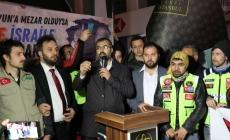 Erbakan Vakfı Ve İHH Zeytinburnu Şubesi İsrail'i Kınadı