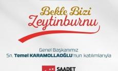 Saadet Partisi Genel Başkanı Temel Karamollaoğlu Zeytinburnu'n da