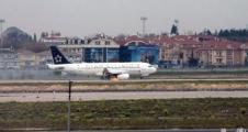 THY uçağının motoru havada alev aldı!