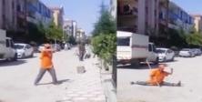 Sincanlı İsmail ninjalara taş çıkartıyor