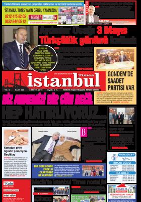 İstanbul Times - Anında Haberin Merkezi - 08.05.2015 Manşeti