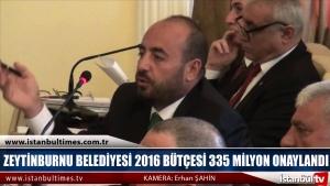 Zeytinburnu Belediyesi 2016 Bütçesi 335 Milyon Onaylandı