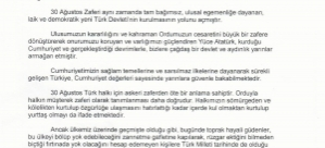 CHP Başakşehirden 30 Ağustos Mesajı