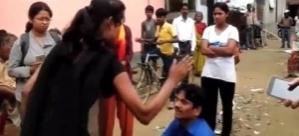 Kadınlar tacizciyi evire çevire dövdü