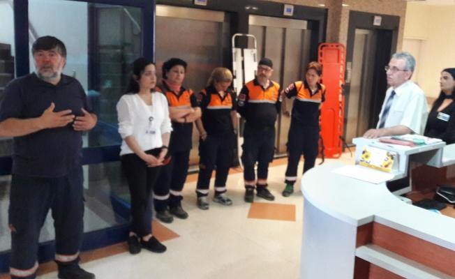 Avrasya Hastanesi olası yangına hazır olduğunu gösterdi
