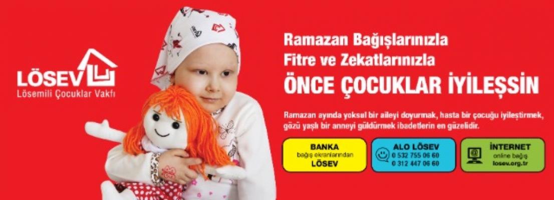 Ramazan Bağışlarınızla, Fitre ve Zekâtlarınızla Önce Çocuklar İyileşsin…