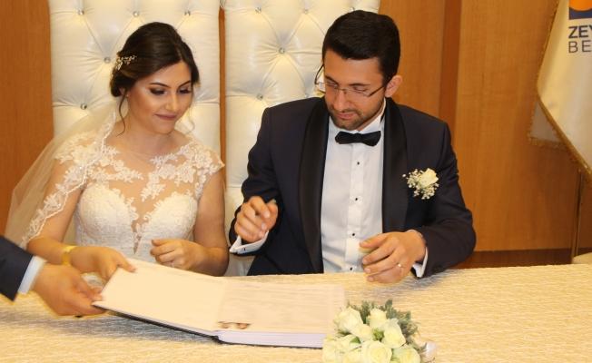 Başkan Aydın  Duygu ve Yusuf'un Nikahını Kıydı