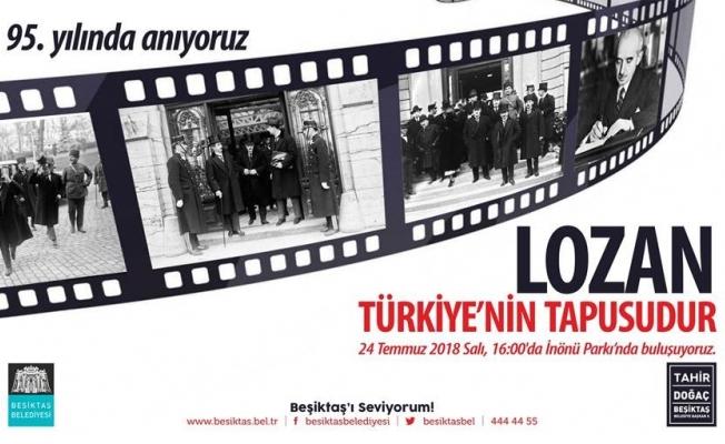 Beşiktaş Belediyesi'n den Lozan anması