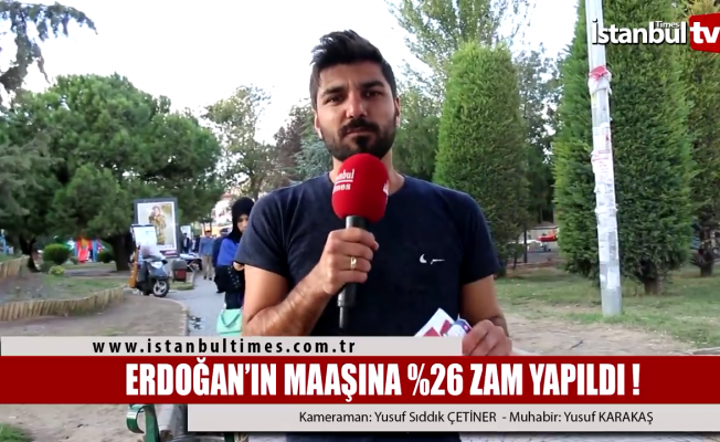 Erdoğan'ın maaşına yüzde 26 zam yapıldı
