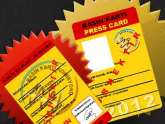 15 bin 423 kişinin basın kartı bulunuyor