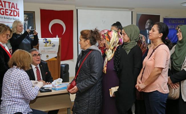Ataşehir Belediyesi kadınlara ücretsiz diyabet taraması yaptı
