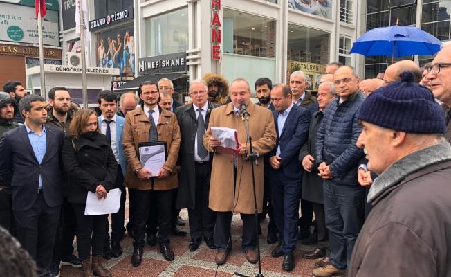 İstanbul Güngören'de Tüm Muhalefet Partilerinden Ortak Açıklama