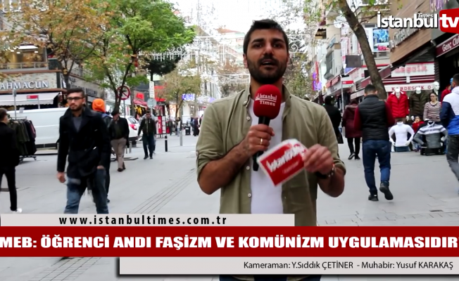 MEB: ''Öğrenci andı faşizm ve komünizm uygulamasıdır''