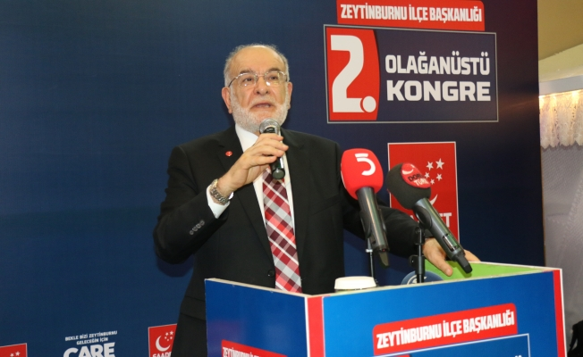 Zeytinburnu Saadet Partisi kongrede coştu