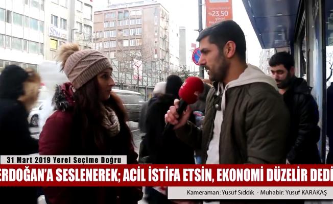 Erdoğan'a acil istifa et diyen vatandaş!