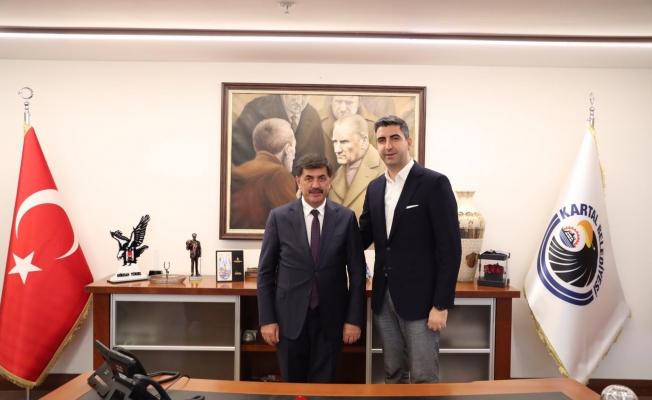 Erzincan Belediye Başkanı Bekir Aksun'dan Başkan Gökhan Yüksel'e Ziyaret