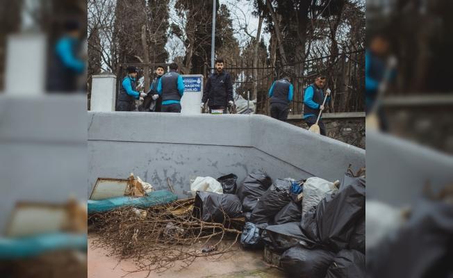 İBB Tarihi Maçka Mezarlığını Temizledi