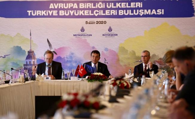 """Başkan İmamoğlu'ndan AB Büyükelçilerine: """"İstanbul'u Hak Ettiği Yere Taşıyacağız"""""""