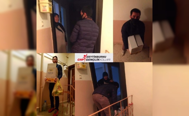 CHP Gençlik Kolları Kapı Kapı Dolaşarak Evde Kalan Büyüklerimize Yardımcı Oluyor