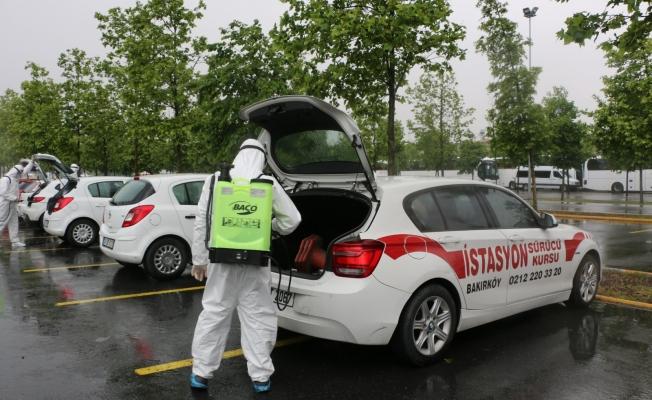 İBB' den Sürücü Kursu Araçlarına Dezenfekte