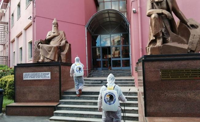 Muharrem Ayı Öncesi Cemevi, Kartal Belediyesi Ekiplerince Dezenfekte Edildi