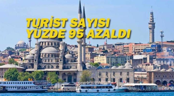 Turist Sayısı,Yıllık Yüzde 95 Azaldı