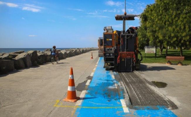 Bakırköy Sahildeki Bisiklet Yolları Onarılıyor