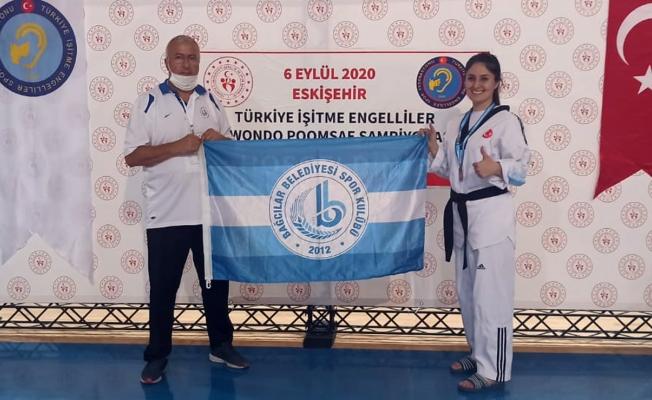 İşitme Engelli sporcu Yıldız,Türkiye üçüncüsü oldu