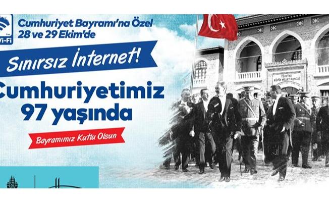 İBB'den Cumhuriyet Bayramında Sınırsız İnternet