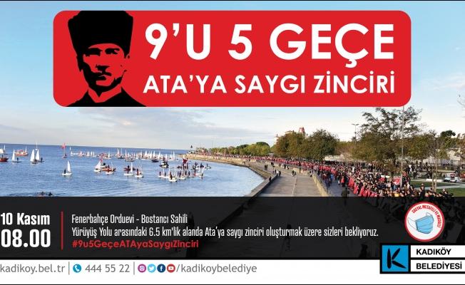 10 Kasım'da 'Sosyal Mesafeli' Ata'ya Saygı Zinciri