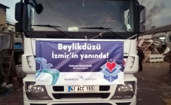 İzmir İçin Yardım Tırları Beylikdüzü'nden Yola Çıktı