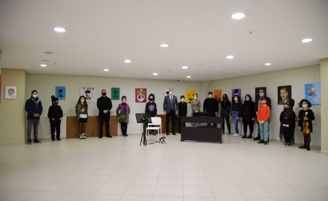 Kartal Belediyesi Sanat Akademisi Öğrencilerinden '10 Kasım' Sergisi