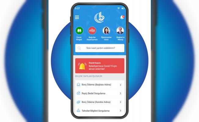 Bağcılar Belediyesi e-belediyecilik Hizmetleri Mobil Uygulamada