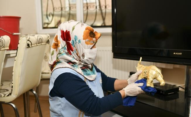 Pandemi Döneminde Bin 107 Vatandaşa Evde Temizlik Hizmeti Verildi
