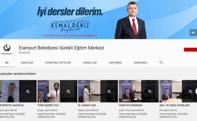 Esenyurt Belediyesi Eğitimin Aksamaması İçin 52 Branşın Ders Konularını Youtube'a Yükledi