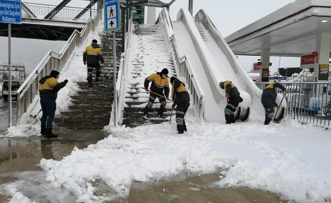 İBB' den Açıklama : Kar Kalınlığı 30 Cm'ye Kadar Çıktı