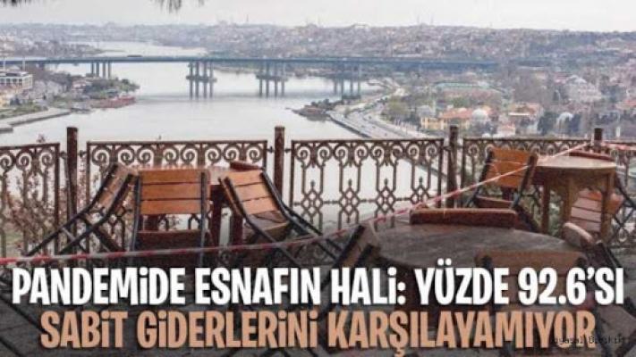 İstanbul'da Esnafın Yüzde 92,6'Sı, Sabit Giderlerini Karşılayamıyor