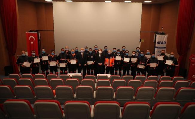 Sivil Savunma Personelleri Arama Kurtarma Sertifikalarını Aldı