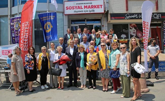 Ataşehir'de Sosyal Market'in Resmi Açılışı Yapıldı