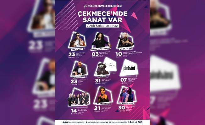 Küçükçekmece'de Yaz Konserleri Başlıyor