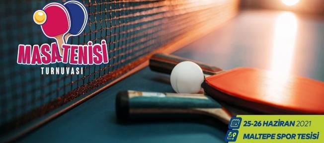 Masa Tenisi Tutkunları Maltepe Spor Tesisi' nde Yarışacak